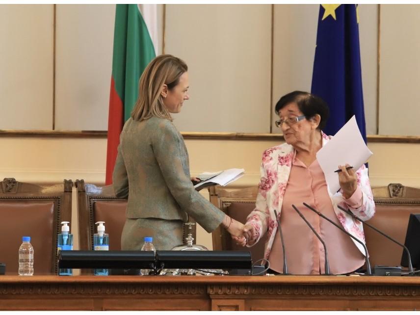 Ива Митева е председателят на 46-ото Народно събрание