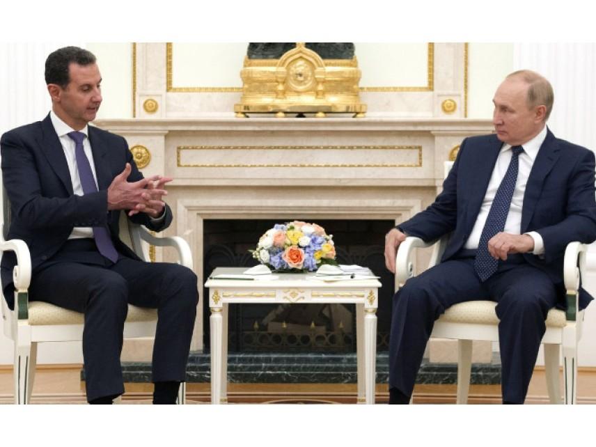 Башар Асад се срещна с Владимир Путин в Кремъл