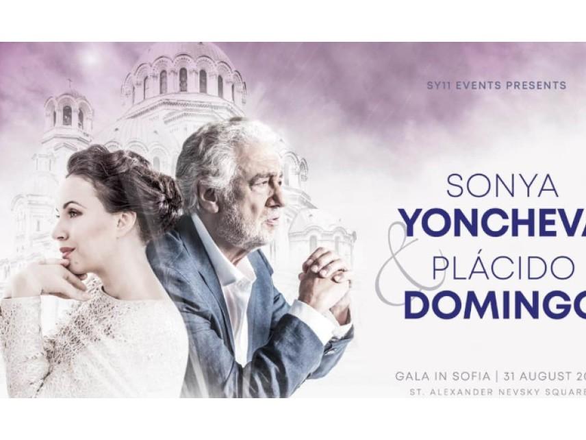 Концертът на Соня Йончева и Пласидо Доминго в София ще бъде предаван на живо в цял свят